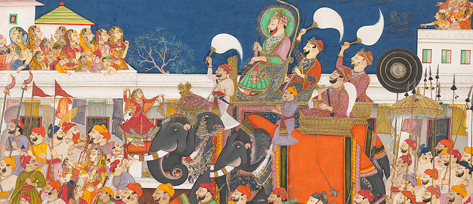 Procession of Ram Singh II, Kota, India, about 1850