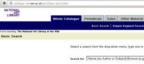 Search the National Art Library Catalogue