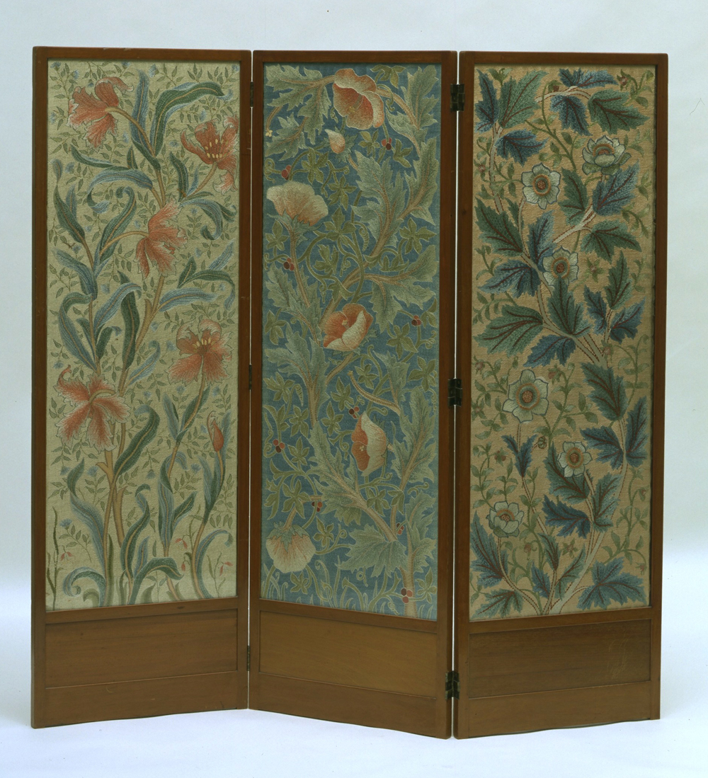 Arts and crafts interiors - Screen John Henry Dearle Designer Morris Co Manufacturer 1885 1910 Museum No Circ 848 1956
