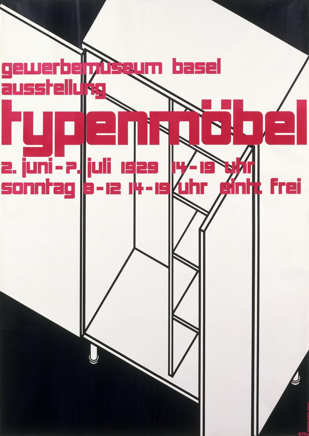 U0027Typenmöbelu0027, Poster, Ernst Mumenthaler (1901u20131978), Printed By W.  Wassermann, Switzerland, 1929, Colour Lithograph. Museum No. E.267u20132005