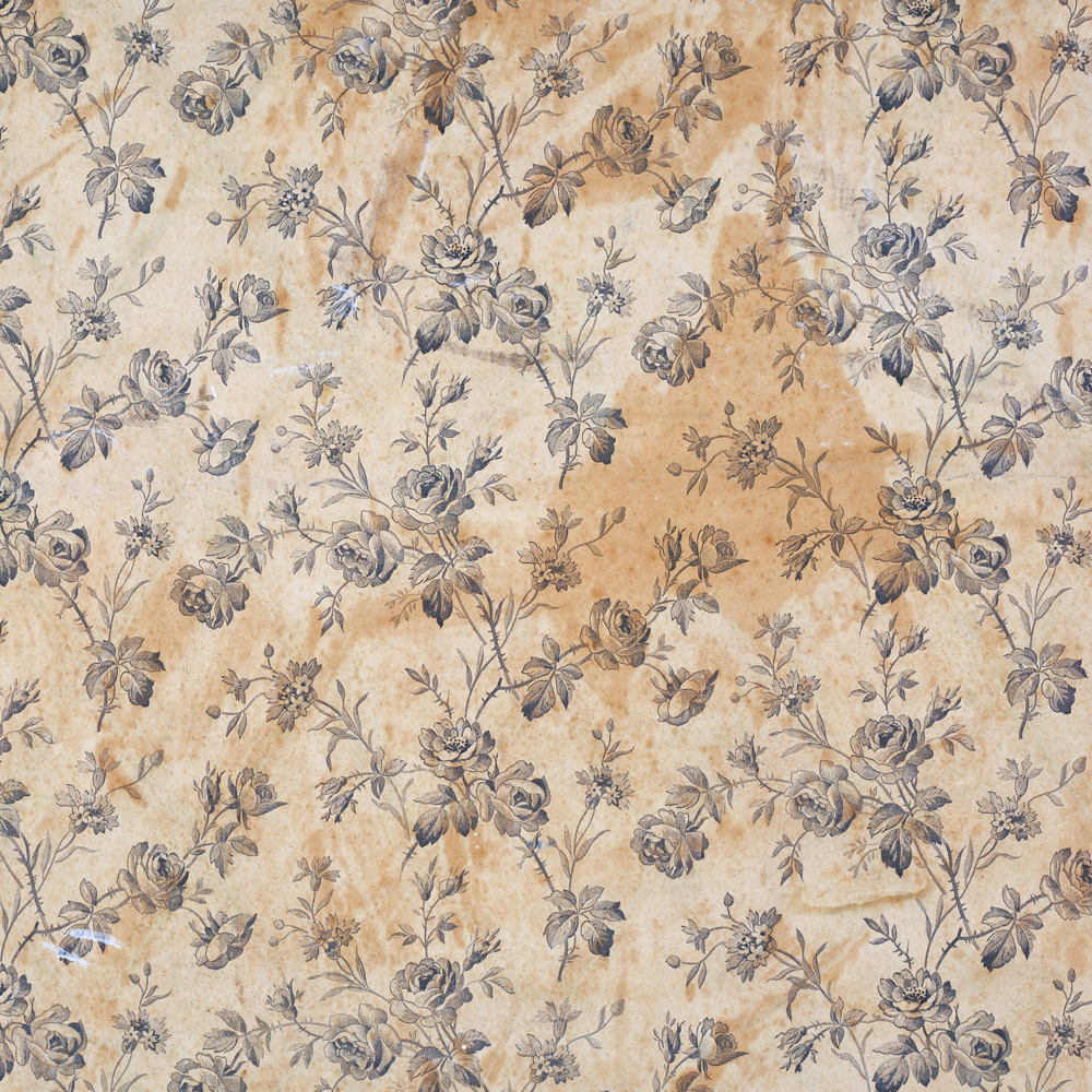 Floral Wallpaper About 1850 75 Museum No E800 1969