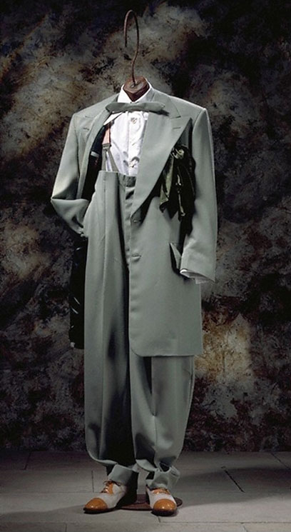 fe8b7cd9d3a7 Recreated zoot suit, Chris Ruocco Tailors, 1994. Museum numbers T.961-