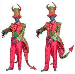 Costume for Pluto in Offenbach's operetta 'Orpheus in the Underworld', designed by Gerald Scarfe, made by Kandis Cook, English National Opera, Coliseum, London, 1985. Museum no. S.788:1/4-1991