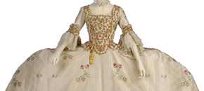 Interactive: Silk 'Mantua' Gown, by Unknown Maker, 1760-70