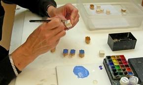 Figure 4 - Plaster restorations retouched to match original glaze. Photography by Fi Jordan