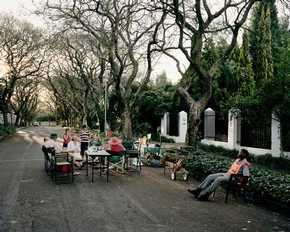 'Street Party, Saxonwold' (from the series Security), Mikhael Subotzky, 2008. Courtesy of the artist and Goodman Gallery