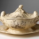 Tureen, cover and stand, Joshua Wedgwood &amp; sons, about 1765. Museum no. 2291 to B-1901