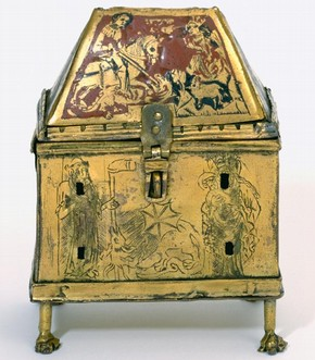 The St.George Reliquary Casket, England, 14th century. Museum no. 634-1870