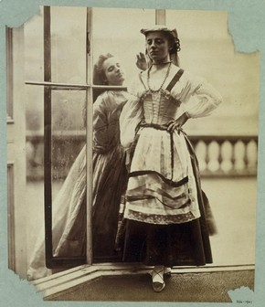 Clementina Maude and Isabella Grace, photography by Lady Clementina Hawarden about 1864. Museum no. PH.366-1947