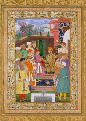 Painting depicting Emperor Jahangir, Manohar, 1610-1615. Museum no. IM.9-1925