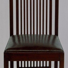 Chair from the Isobel Roberts House, designed by Frank Lloyd Wright, 1908. Museum no. W.11-1982