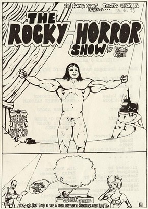 Programme for the first production of 'The Rocky Horrow Show', Royal Court Theatre, London, England, 1973.