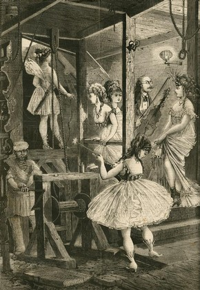 Newspaper illustration showing a 'star trap', late 19th century. © Victoria and Albert Museum, London