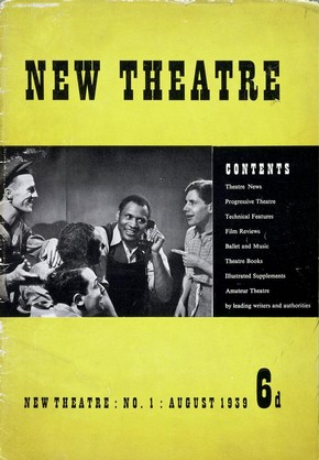 New Theatre magazine, Unity Theatre, London, England, August 1939