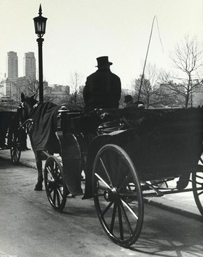 Ilse Bing, 'Carriage, Central Park', 1936. Museum no. E.3052-2004, © Victoria and Albert Museum, London/Estate of Ilse Bing, courtesy Michael Mattis