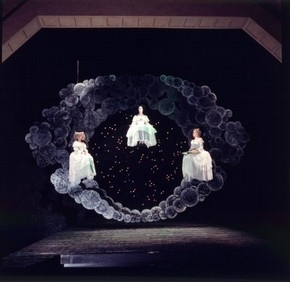 Scene from Peter Hall's Glyndebourne production of Francesco Cavalli's La Calisto, 1970