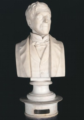 John Jones, John Lawlor, white marble bust, 1882. Museum no. A.79