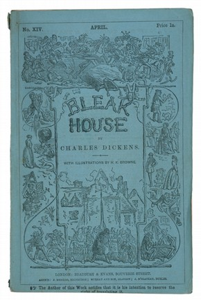 Charles Dickens, 'Bleak House', London, Bradbury Evans, 1853. Pressmark: Forster 48.A.4