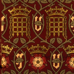 Wallpaper for the Palace of Westminster, A.W.N.Pugin, 1847. Museum no. E.150-1976