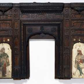 Figure 1. View of the main façade of the model of Ranjit Singh's tomb. Museum No. 944 (IS). 126cm x41 cm.