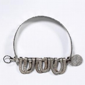 Pair of silver anklets, Asante (Ashanti), Ghana, before 1874. Museum no 380-1874