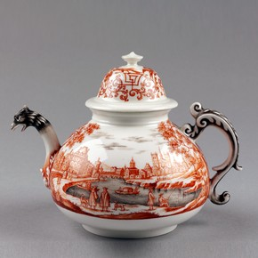 Teapot, Meissen porcelain factory, 1720-1730. Museum no. C.75&amp;A-1939