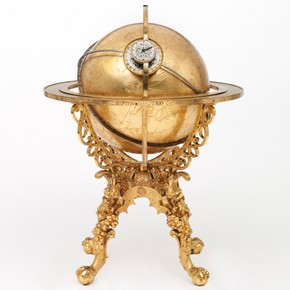 Gilded metal and steel mechanical globe, by Georg Roll and Johannes Reinhold, 1584, Augsburg, Germany. Museum no. 246-1865