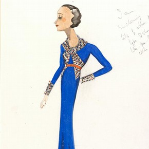 2) Victor Stiebel (1907-76), fashion design, London, 1934-5. Museum no. E.1075-1983