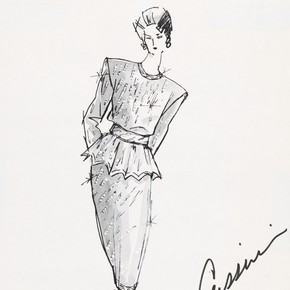 Oleg Cassini (1913-2006), fashion design, United States, 1988. Museum no. E.25-2000