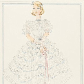 5) Norman Hartnell (1901-79), fashion design, London, 1930s. Museum no. E.15-1943