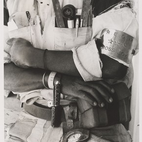 David Goldblatt, 'Boss Boy', Battery Reef, Randfontein Estates Gold Mine, Randfontein, South Africa, November 1966, gelatin-silver print. Museum no. E.20-1992, © Victoria and Albert Museum, London
