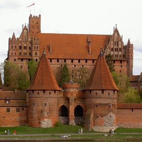 Malbork Castle (formerly Mareinburg), Poland, begun before 1280. Photograph by Andrzej Plichta.