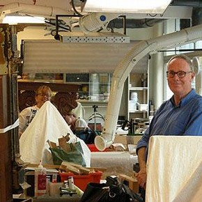 Christine Powell, Senior Furniture Conservator and Tim Miller, Furniture Conservator