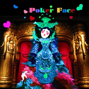 'Poker Face', CD cover design made during V&A digital event.