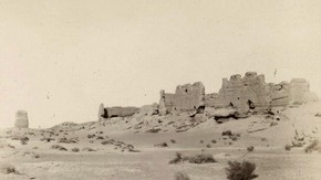 Ruined palace, The Limes Watchtowers, Sir Marc Aurel Stein, 1907. Photo 392/26(271),  The British Library Board
