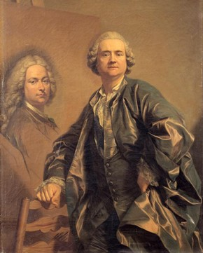 Figure 8 - Self-portrait, Louis-Michel Vanloo, France, 1763, oil on canvas, 129.5 x 98 cm. Versailles, Château de Versailles et Trianon, Inv. no. MV 5827. © Réunion des musées nationaux, Paris