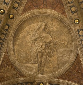 Figure 9b - Detail from the Ceiling from Casa Maffi, Cremona, around 1500. Museum no. 428-1889