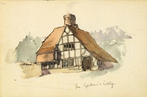 The Gardener's Cottage, Munstead Wood, sketchbook, Edwin Lutyens, 1896. © RIBA Architecture Library Drawings Collection