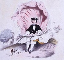 'A Windy Day', lithograph, French, about 1860