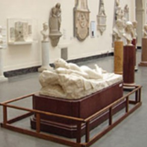 Object in the Sculpture gallery, Room 50a, protected by a physical barrier