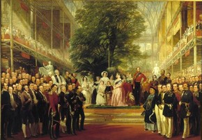 'The Opening of the Great Exhibition' by Henry Selous, 1851-1852, Museum no. 329-1889