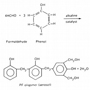 Figure 1. First stage in the polymerisation of phenol formaldehyde.
