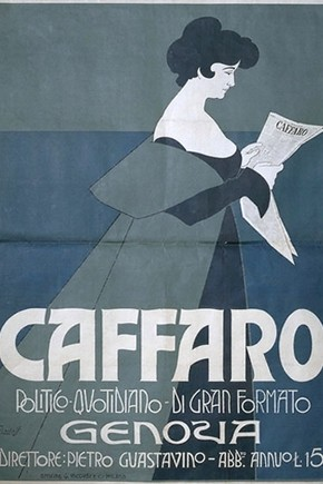 Figure 4. Caffaro, by Franz Laskoff, Museum No. E1414-1963, on display in the exhibition. Photograph by Mike Webber.