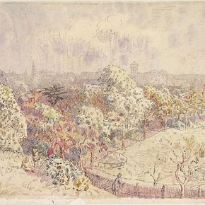 'Colchester from the North Station' by Walter Bayes, about 1940. Museum no. E.1374-1949
