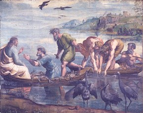 Raphael, 'The Miraculous Draught of Fishes', 1515-16. V&A Images/The Royal Collection