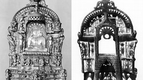 Shrine with crystal image of Parsvanatha, Gujarat, western India, 1515. Museum no. IM.3-1939