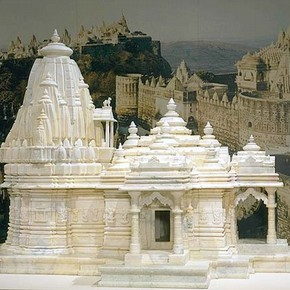 Model of a Jain temple, Shree M.P. Trivedi, 20th century. Reproduced with permission of the Oshwal Association of the UK