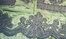Detail of the silk velvet counterpoint bed hangings of the William Kent bed. Museum no. W.58-2002