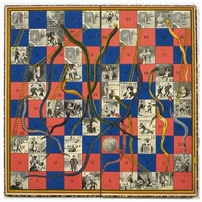 Game of Snakes & Ladders, 1895, Museum no. MISC.423-1981