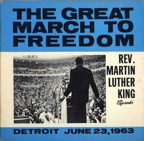 Record cover, 1963, image courtesy of Motown Records Archive, Motown supported the Civil Rights Movement by issuing recordings of Reverend Martin Luther King Jr's speeches in 1963